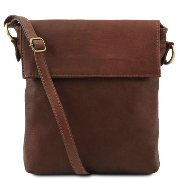 Tuscany Leather Classic 'Morgan' Men's Leather Messenger Crossover Bag