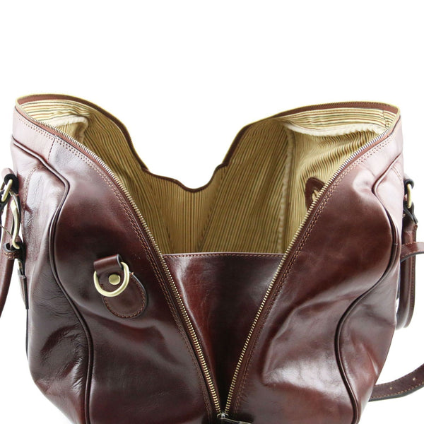 Tuscany Leather Travel Bag With Front Straps 'TL Voyager' - Small