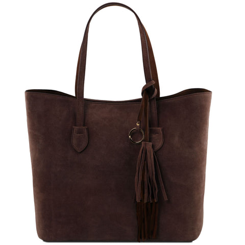 Tuscany Leather 'TL Bag' Suede Leather Shopping Handbag (TL141639)
