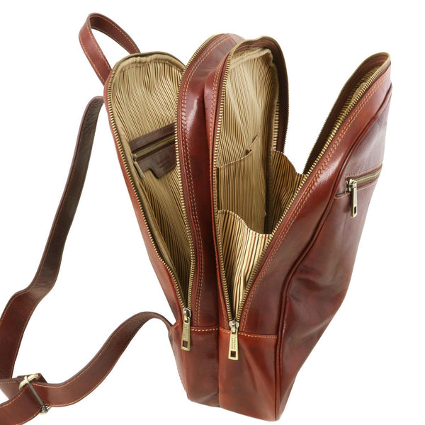 Tuscany Leather Osaka Leather Backpack - Made in Tuscany