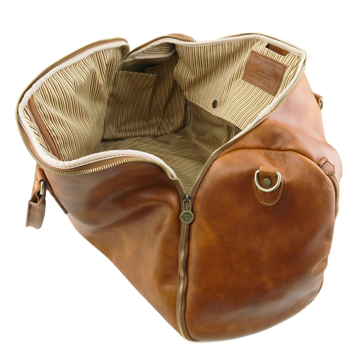 Tuscany Leather Antigua Leather Garment/Suit Carrier And Duffel Combo Suit Carrier Tuscany Leather