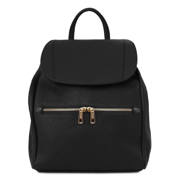 Tuscany Leather Soft Leather Backpack For Women (TL141697) Backpack Tuscany Leather Black