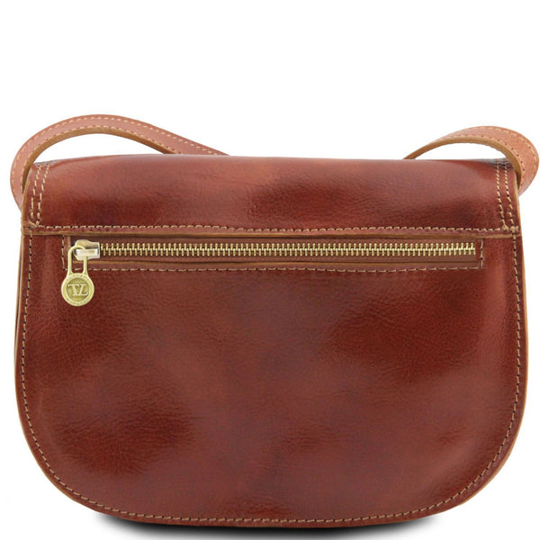 Tuscany Leather 'Isabella' Lady Leather Clutch Bag With Shoulder Strap Ladies Shoulder Bag Tuscany Leather