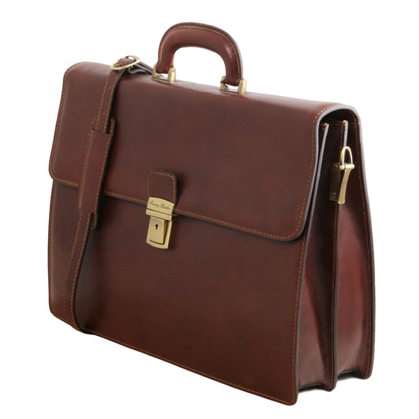 Tuscany Leather 'Parma' Leather Briefcase 2 Compartments Briefcase Tuscany Leather