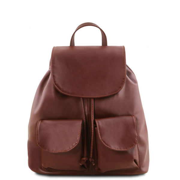 Tuscany Leather Classic 'Seoul' Leather Backpack (Small)