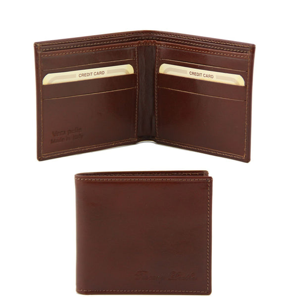 Tuscany Leather Exclusive Classic 2 Fold Leather Wallet For Men (TL141377) Wallets Tuscany Leather