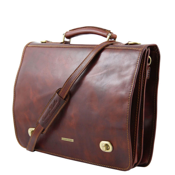 Tuscany Leather 'Siena' Leather Briefcase 2 Compartments Briefcase Tuscany Leather