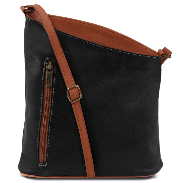 Tuscany Leather 'TL Bag' Mini Soft Leather Unisex Cross Bag (TL141111) Ladies Shoulder Bag Tuscany Leather Black