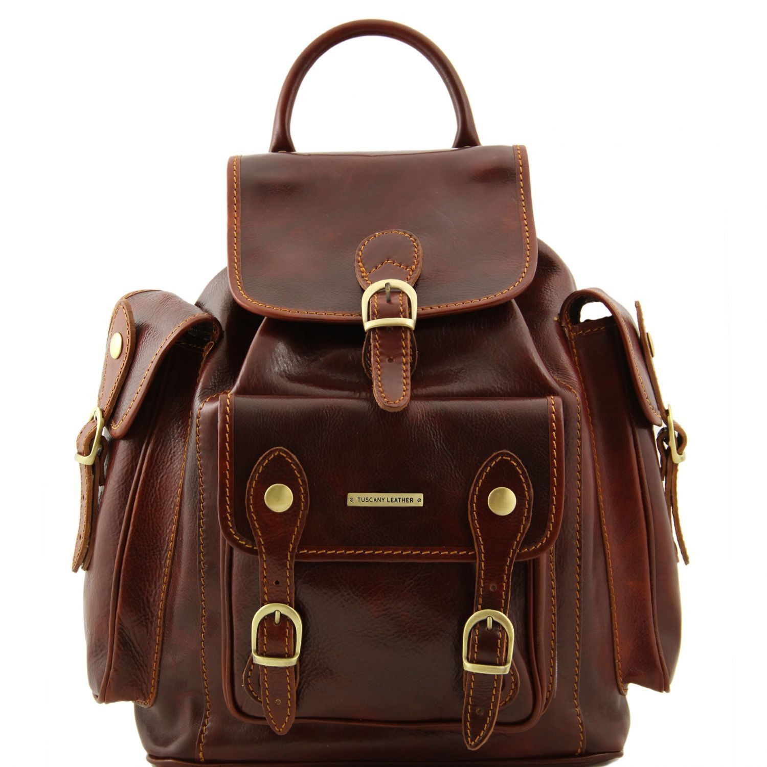 Tuscany Leather 'Pechino' Backpack Backpack Tuscany Leather Brown