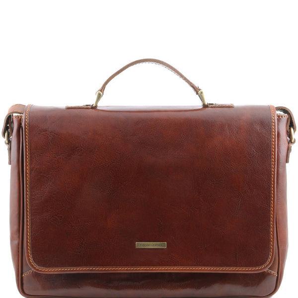 Tuscany Leather 'Padova' Exclusive Leather Laptop Case Laptop Briefcase Tuscany Leather Brown