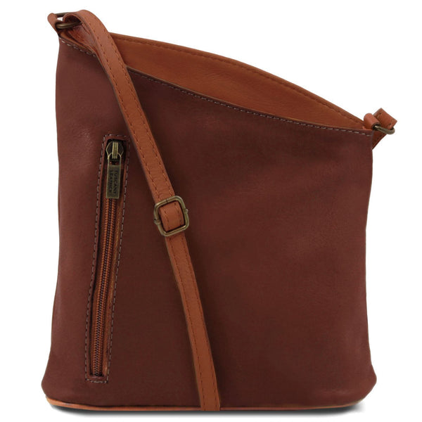 Tuscany Leather 'TL Bag' Mini Soft Leather Unisex Cross Bag (TL141111) Ladies Shoulder Bag Tuscany Leather Brown
