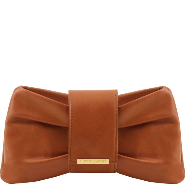 Tuscany Leather TL Bag ' Priscilla ' Clutch Leather Handbag - Special Offer Handbag Tuscany Leather Cognac