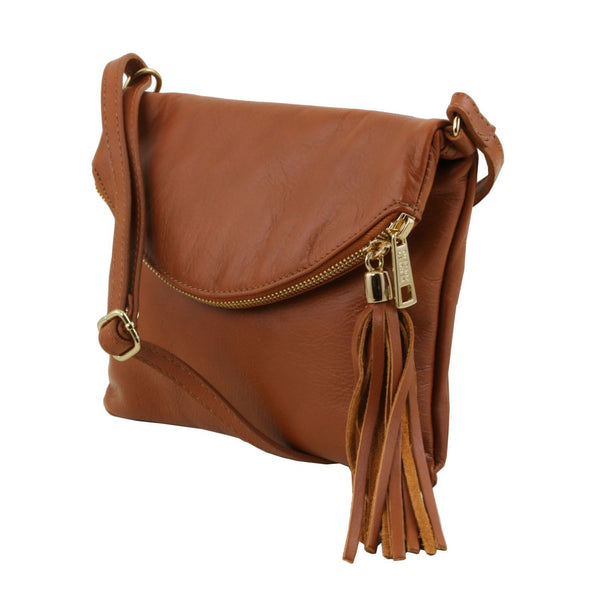 Tuscany Leather 'TL Bag' Young Shoulder Bag With Tassel