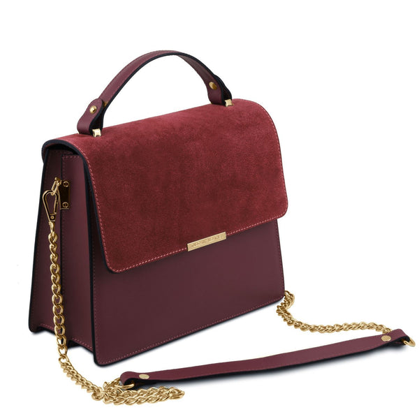 Tuscany Leather 'Irene' Leather Handbag With Chain Strap