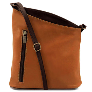 Tuscany Leather 'TL Bag' Mini Soft Leather Unisex Cross Bag (TL141111) Ladies Shoulder Bag Tuscany Leather Cognac