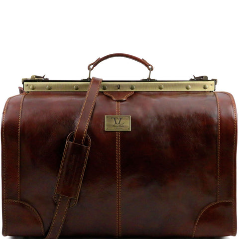 Tuscany Leather Madrid Gladstone Leather Bag (Large) (52cm) - Made in Tuscany