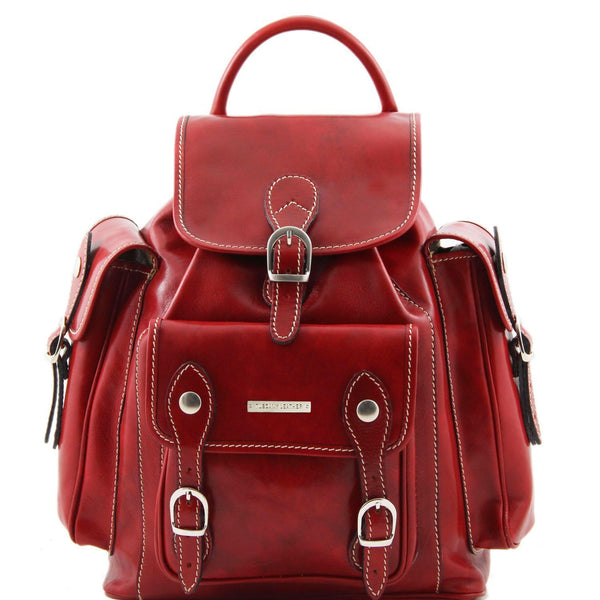 Tuscany Leather 'Pechino' Backpack Backpack Tuscany Leather Red