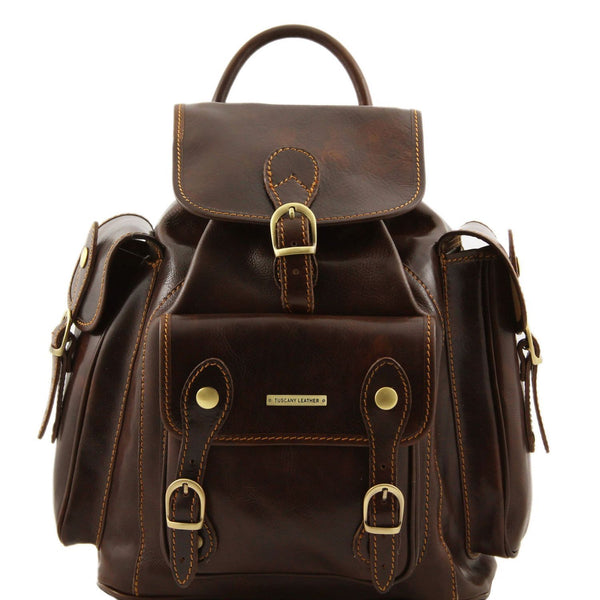 Tuscany Leather 'Pechino' Backpack Backpack Tuscany Leather Dark Brown