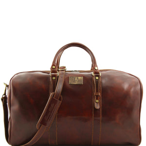 Tuscany Leather 'Francoforte' Exclusive Leather Travel Bag (Large) Duffle Bag Tuscany Leather Brown