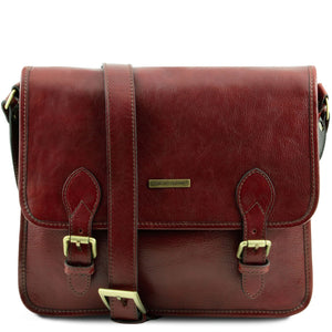 Tuscany Leather 'Postman' Leather Briefcase/Messenger Bag Laptop Briefcase Tuscany Leather Brown