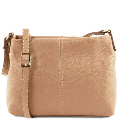 Tuscany Leather 'TL Bag' Ladies Soft Leather Shoulder Bag (TL141720) Ladies Shoulder Bag Tuscany Leather Champagne