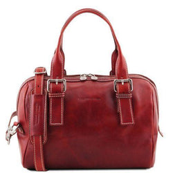 Tuscany Leather Classic Eveline Leather Ladies Mini Duffle Handbag