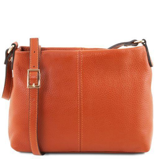 Tuscany Leather 'TL Bag' Ladies Soft Leather Shoulder Bag (TL141720) Ladies Shoulder Bag Tuscany Leather Brandy