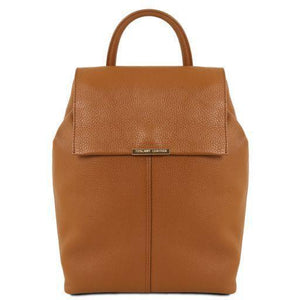 Tuscany Leather 'TL Bag' Women's Soft Leather Backpack (TL141706) Backpack Tuscany Leather Cognac