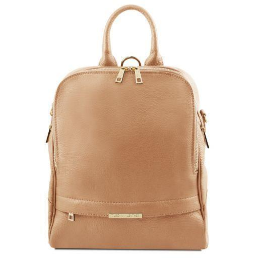 Tuscany Leather 'TL Bag' Soft Leather Backpack For Women Backpack Tuscany Leather Champagne