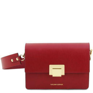 Tuscany Leather 'Adele' Leather Clutch Handbag Tuscany Leather Red