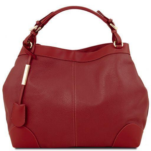 Tuscany Leather 'Ambrosia' Soft Leather Handbag Ladies Shoulder Bag Tuscany Leather Red