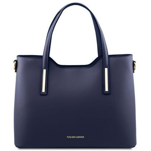 Tuscany Leather 'Olimpia' Leather Shopping Tote Bag (Large) Ladies Shoulder Bag Tuscany Leather Dark Blue