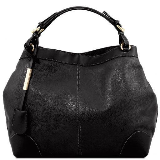 Tuscany Leather 'Ambrosia' Soft Leather Handbag Ladies Shoulder Bag Tuscany Leather Black