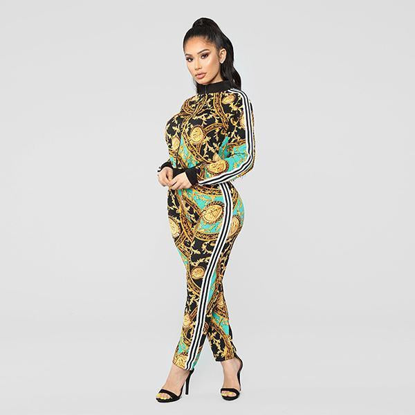 Printed Fashion Casual Sports Suit