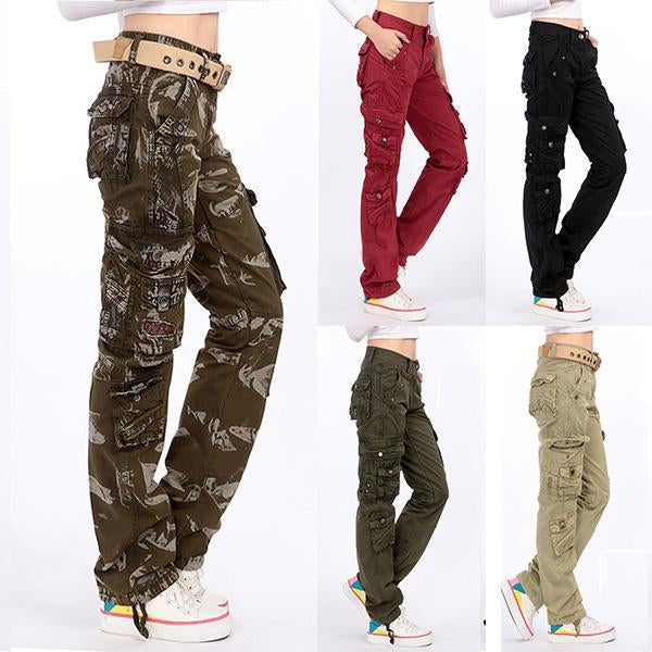 Multi-Pocket Cargo Loose Baggy Pants