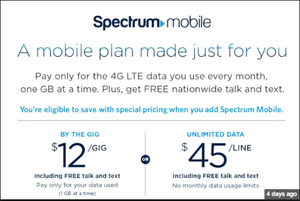 Charter/Spectrum Offering $12/month Unlimited Cell Phone Plan (Best Deal on the Planet)