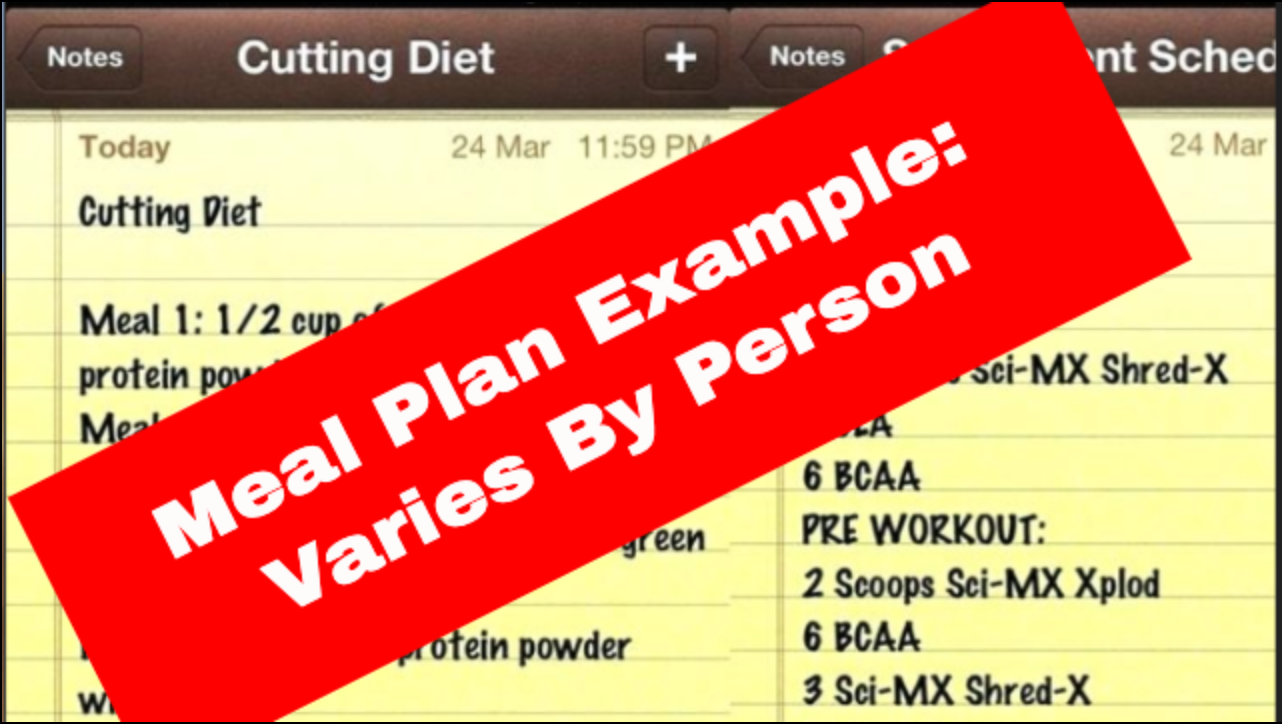 Meal Plan Examples: Varies based on the needs of the person