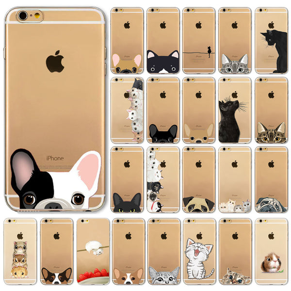 25 Cute Phone Cases For iPhone 6 6s -Cat Hamster Dog  Cover