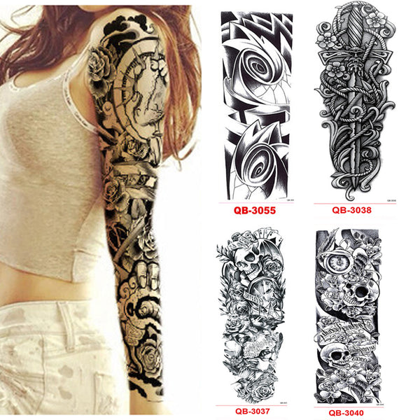 3 Pcs Temporary Tattoo Sleeve for Men & Women