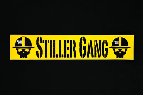 Stiller Gang Gold Bumper Sticker, 3x15 in