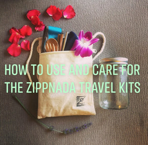 How to use and care for the ZippNada travel kits