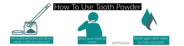 how to use tooth powder