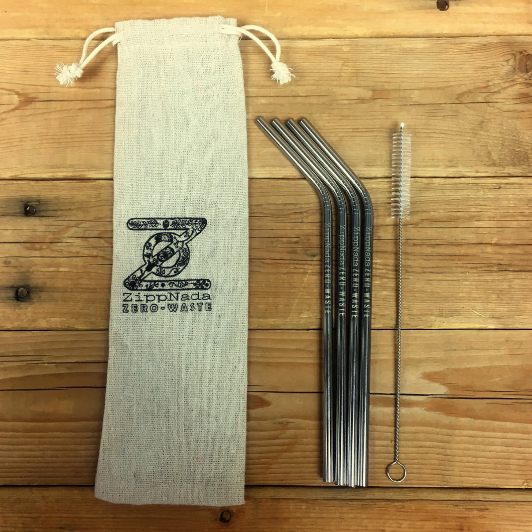 Metal Straw Kit Bent - 4