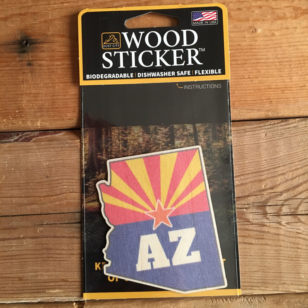 Arizona Wood Sticker