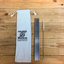 4 pack Straight Stainless Steel Straws
