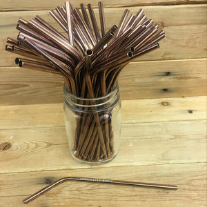 Single Colored Bent Stainless Steel Straws