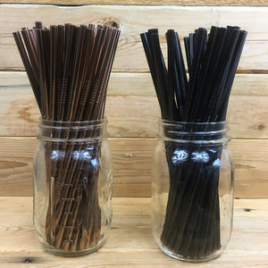 Single Colored straight Stainless Steel Straws