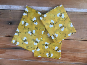 3 (S, M, & L) Pack of Reusable Bee & Pine Wax Wrap