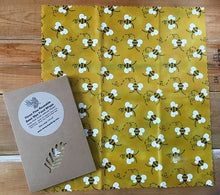Large Reusable Bee & Pine Wax Wrap