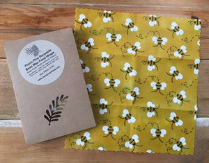 Small Reusable Bee & Pine Wax Wrap